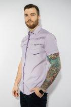 Рубашка в мелкую полоску Time of Style 199P0228 XL Сиренево-белый - изображение 3