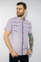 Рубашка в мелкую полоску Time of Style 199P0228 XL Сиренево-белый - изображение 4