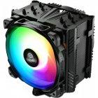 Кулер процессорный Enermax ETS-T50 AXE ARGB (ETS-T50A-BK-ARGB), Intel: 2066/2011-3/2011/1200/1150/1151/1155/1156/1366/775, AMD: FM1/FM2/FM2+/AM2/AM2+/AM3/AM3+/AM4, 160x138.7x112.5мм, черный, 3 pin, 4-pin - изображение 2
