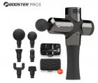 Масажер Антистрес терапевтичний перкусійний Booster Pro3 Чорний 6 насадок - зображення 1