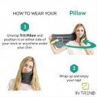 Подушка – шарф для шеи Travel Pillow для путешествий удобная мягкая дорожная подушка для сна в машину самолет поезд для детей и взрослых, Серый - изображение 6