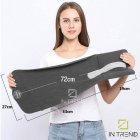 Подушка – шарф для шеи Travel Pillow для путешествий удобная мягкая дорожная подушка для сна в машину самолет поезд для детей и взрослых, Серый - изображение 7