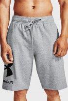 Мужские серые шорты UA Rival FLC Big Logo Shorts Under Armour M 1357118-011 - изображение 1