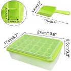 Форма для льда Kitchenio с контейнером и лопаткой Салатовая (2000992406338) - изображение 5