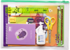 Набор Бумажный бум для творчества ZiBi с бумагой и картоном в пластиковой папке (ZB.9972) - изображение 2