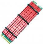 Радіатор для SSD Gelid SubZero M.2 SSD 70x20х3 мм Red (HS-M2-SSD-10-A-4) - зображення 3