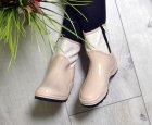 Черевики напівчобітки W-shoes 118b гумові водонепроникні утеплені флісом по всій довжині бежеві жіночі 40 (25,5 см) b-218 - зображення 7