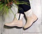 Ботинки полусапожки W-shoes 118b резиновые непромокаемые утепленные флисом по всей длине бежевые женские 37 (23.5 см) b-218 - изображение 2