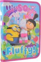 Папка для тетрадей Yes пластиковая на молнии В5 Minions Fluffy для девочек (491657) (5056137193394) - изображение 1