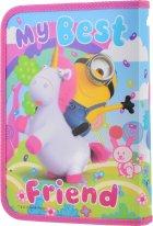 Папка для тетрадей Yes пластиковая на молнии В5 Minions Fluffy для девочек (491657) (5056137193394) - изображение 2