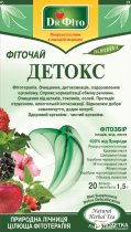 Упаковка Фиточай в пакетиках Доктор Фито Детокс 20 х 5 шт (4820167091927) - изображение 1