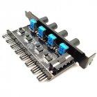 Реобас Lamptron MOLEX на 8 кулерів 4 pin / 3 pin (в PCI слот) Fan Hub - зображення 1