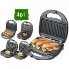 Гриль, бутербродниця, вафельниця, горішниця, сэндвичница 4в1 Granthoff GT-780 1200 Вт мультимейкер - зображення 1