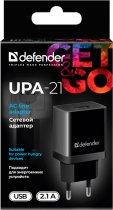 Сетевое зарядное устройство Defender UPA-21 1xUSB 5V/2.1А Black (83577) - изображение 3