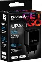 Сетевое зарядное устройство Defender UPA-21 1xUSB 5V/2.1А Black (83577) - изображение 4