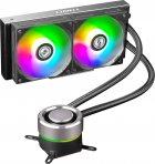 Система рідинного охолодження Lian Li Galahad AIO 240 Black Liquid Cooler with RGB (G89.GA240B.00) - зображення 1