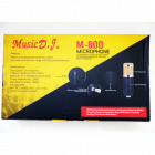Конденсаторний студійний мікрофон M-800 PRO-MIC USB зі стійкою і вітрозахистом Чорний - зображення 2