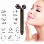 Масажер для обличчя і тіла роликовий Electronic 3D Massage (сріблястий металік) - зображення 6