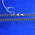 """Серебряная цепочка Meridian 925 пробы плетение """"Молния"""" в чернении 50 размер (5113/11500) - изображение 2"""