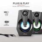 Акустическая система Trust Ziva RGB Illuminated 2.0 Gaming Speaker Set (24071) - изображение 10