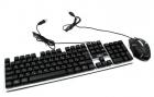 Комплект UKC Keyboard M-416/K01/5559 USB клавіатура з підсвічуванням + мишка - зображення 3