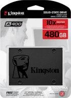 "Kingston SSDNow A400 480GB 2.5"" SATAIII 3D V-NAND (SA400S37/480G) - зображення 4"