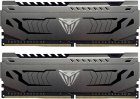Пам'ять DDR4 8Gb x 2 (16Gb Kit), 3000 MHz, Patriot Viper Steel Gray, з радіатором (PVS416G300C6K) - зображення 1