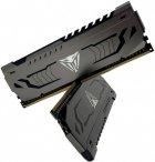 Пам'ять DDR4 8Gb x 2 (16Gb Kit), 3000 MHz, Patriot Viper Steel Gray, з радіатором (PVS416G300C6K) - зображення 3
