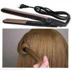 Плойка для Завивки-Гофре для прикореневого об'єму волосся Geemy by Gemei GM-2955W - професійний прилад для укладання - щипці для модною і оригінальною зачіски, Чорно-золотий - зображення 7