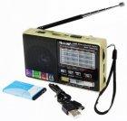 Аккумуляторный портативный радиоприемник Golon RX-2277 FM AM радио колонка с фонариком и USB выходом Черно-золотой (DU006) - изображение 1
