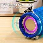 Bluetooth-колонка з LED підсвічуванням TG-165 10W 1200mAh Синій - зображення 4