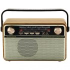 Радіо акумуляторне з Bluetooth і пультом управління Kemai Retro Gold MD-505-BT - зображення 1
