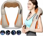 Роликовый массажер для спины и шеи Massager of Neck Kneading четыре массажных ролика,Адаптер для автомобиля; Адаптер для сети, ИК прогрев - изображение 1