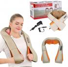 Роликовый массажер для спины и шеи Massager of Neck Kneading четыре массажных ролика,Адаптер для автомобиля; Адаптер для сети, ИК прогрев - изображение 4