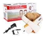 Роликовый массажер для спины и шеи Massager of Neck Kneading четыре массажных ролика,Адаптер для автомобиля; Адаптер для сети, ИК прогрев - изображение 6