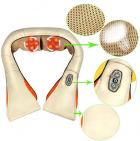Роликовый массажер для спины и шеи Massager of Neck Kneading четыре массажных ролика,Адаптер для автомобиля; Адаптер для сети, ИК прогрев - изображение 9
