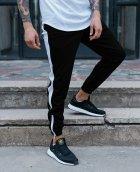 Спортивные штаны с белой полоской (лампасом) Тур Рокки (Rocky) Черный M - изображение 1
