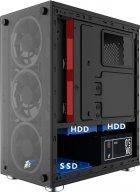 Корпус 1stPlayer X2-3R1 Color LED Black без БП - изображение 2