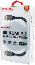 Кабель Promate ProLink8K-200 Black, HDMI v.2.1 — HDMI v.2.1, 2 м UltraHD-8K, 3D (prolink8k-200.black) - зображення 5