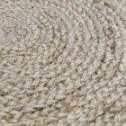 Килим джутовий Jutix 150 см круглий бежевий - зображення 1