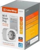 Умная Wi-Fi розетка ColorWay одинарная (CW-SP1A-PTM) - изображение 3