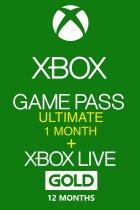 Xbox Game Pass Ultimate 1 місяць + Xbox Live Gold на 12 місяців Xbox One / Series підписка для всіх регіонів і країн - зображення 1