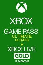 Электронный код (Подписка) Xbox Game Pass Ultimate 14 дней + Xbox Live Gold на 12 месяцев Xbox One/Series для всех регионов и стран - зображення 1