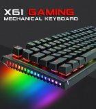 Игровая механическая проводная клавиатура ZUOYA Х61 с подсветкой RGB 87 клавиш Русский/Английский Синие переключатели (sv0264) - изображение 2