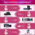 Игровая гарнитура Onikuma Gaming Headset для Xbox, PS, ПК pink - изображение 7