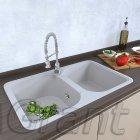 Гранитная кухонная мойка Grant Quadro белая - изображение 1