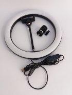 Кільцева світлодіодна лампа Ring Fill Light діаметром 26 см з кріпленням для смартфона - зображення 4