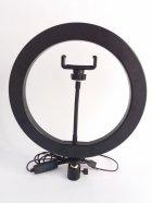 Кільцева світлодіодна лампа Ring Fill Light діаметром 26 см з кріпленням для смартфона - зображення 5