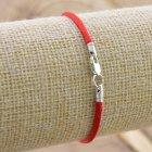 Серебряный оберег Красная нить длина 17 см ширина 2 мм вес 0.7 г - изображение 3