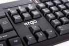 Клавиатура проводная Ergo K-280 HUB USB Black - изображение 8